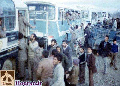 اعزام رزمندگان به جبهه های جنگ از ابهر - هوران
